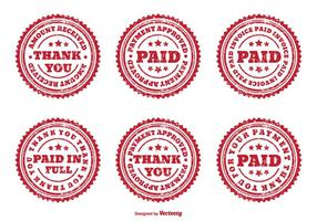 Distressed Assorted PAID Badges