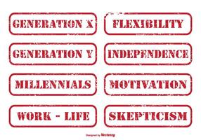 Generation X Distressed Stempel Set
