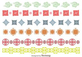 Japanese Culture Ornament Border