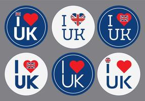 Eu amo o vetor do Reino Unido