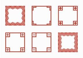 Gratis japansk gräns vektor illustration