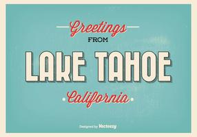 Lake Tahoe retro stil hälsning illustration