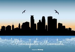 Ilustración del horizonte de Minneapolis