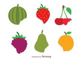 Biten frukt vektorer