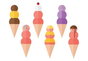 Snow Cone Ball Collections vector