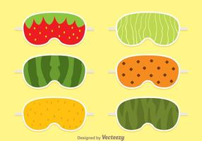 Fruit Sleep Mask vector