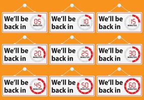 We'll Be Back Signs