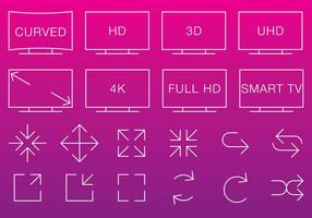 Video & Multimedia Thin Icons