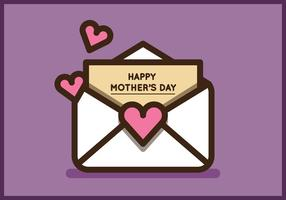 Cute Mother's Day Envelope Vectors