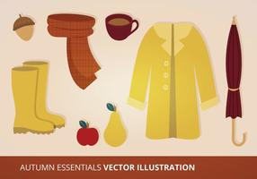 Herfst Essentials Vector Set
