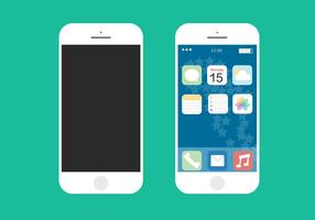 IPhone 6 Flat Free Vector
