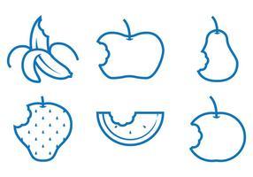 Vectores de la mordedura de la fruta
