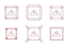 Free Fuji Mount Border Frame Vectors