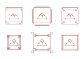 Kostenlose Fuji Mount Border Frame Vektoren
