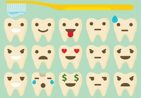 Tooth Emoticon Vectors