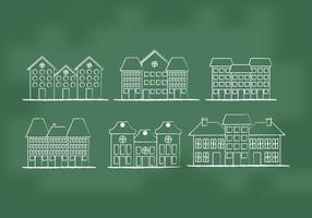 Vecteurs de maisons de ville