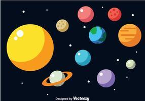Vector de la Sistema Solar