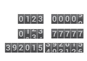 Vetores do contador de números