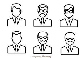 Man Outline Icons vector
