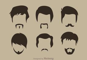Baard Man Pictogrammen