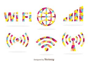Symbole Wifi coloré