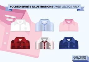 Gevouwen Shirts Illustraties Gratis Vector Pack