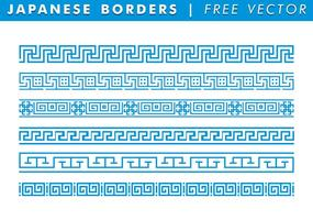 Fronteras japonesas vector libre