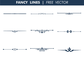 Decoratieve Fancy Lines Gratis Vector