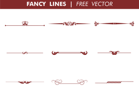 Dekorative Fancy Zeilen Free Vector