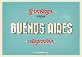 Retro Style Buenos Aires Greeting Illustration