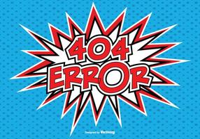Comic Style 404 Error Illustration