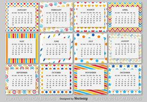 Modello di calendario 2016