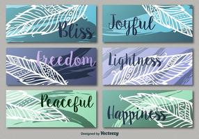 Colorful leaf banners vector