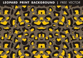 Leopard print bakgrund fri vektor