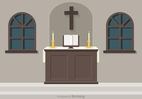 Free Church Altar Vector Illustration