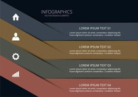 Clean infographic vector