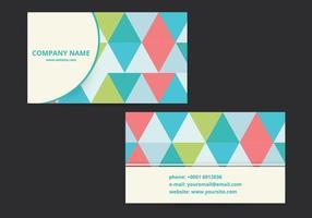 Diseño moderno de la tarjeta de visita