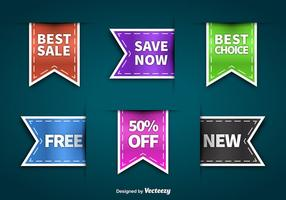 Colorful sale labels