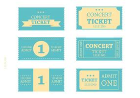Retro Blauwe Ticket Vectors