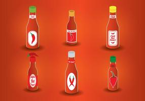 Hot Sauce Bottle Vector