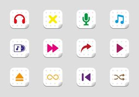 Free Music Play Icons Vector