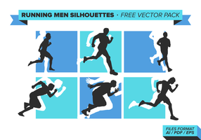 Lopende mannen gratis vector pack