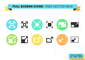 Full Screen Ikoner Gratis Vector Pack