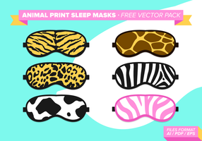 Animal Print Sleep Maskers Gratis Vector Pack