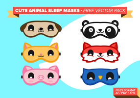 Cute Animal Sleep Masks Gratis Vector Pack