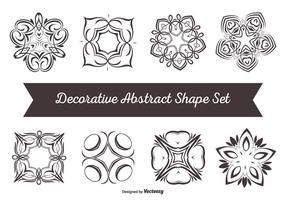 Decoratieve Abstracte Vorm Set