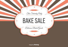 Bake Sale Background Illustration vector