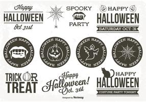 Retro Stijl Halloween Label Set