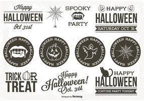 Retro Style Halloween Label Set