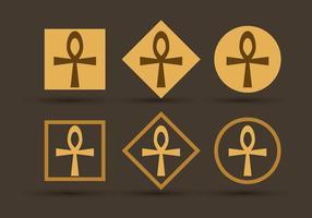 Vectores símbolo Ankh